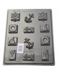 image: Nautical shapes chocolate mould