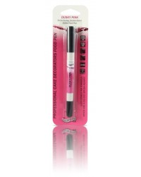 image: Edible marker pen Dusky pink Double ended thick & thin