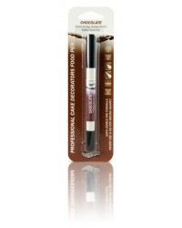 image: Edible marker pen Chocolate Double ended thick & thin