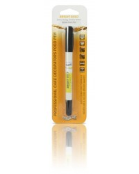 image: Edible marker pen Bright gold Double ended thick & thin