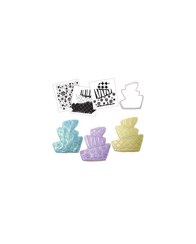 image: Cookie Cutter Texture Set Whimsy Topsy Turvy wedding cake Set