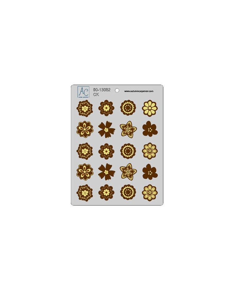 image: Flower fun mint chocolate mould