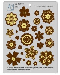 image: Flower fun accessory chocolate mould