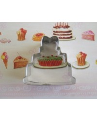 image: Wedding cake cookie cutter 1.5""