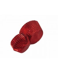 image: Foil baking cups red 50mm x 35mm (25) cupcake papers
