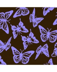 image: Chocolate transfer sheet Butterflies (LAVENDER PURPLE)
