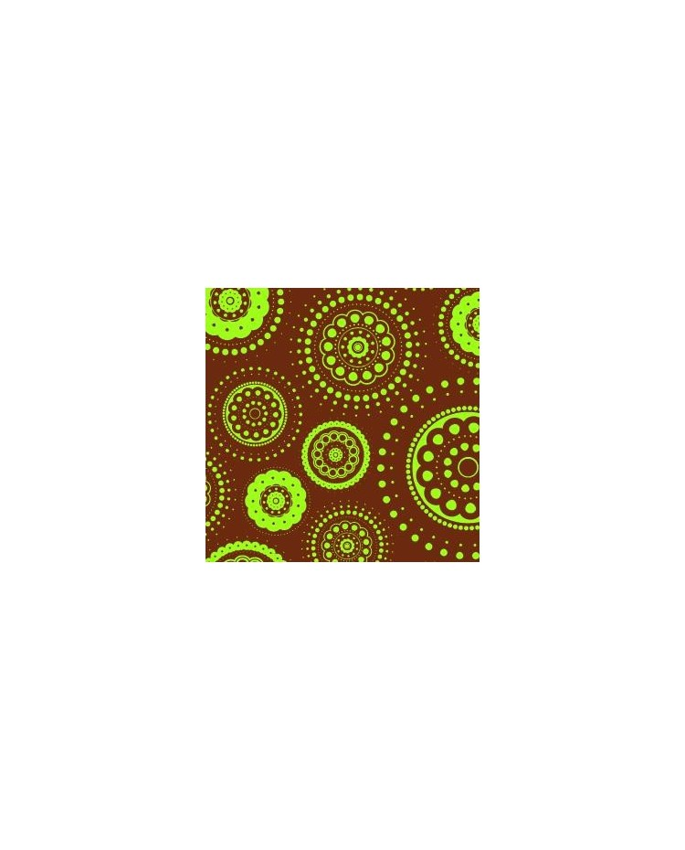 Chocolate Transfer Sheet Retro Lime Dots