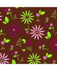 image: Chocolate transfer sheet Vintage flowers lime