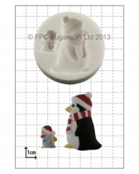 image: Penguins silicone mould