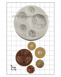 image: Vintage Buttons silicone mould #1
