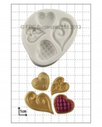 image: Fancy hearts (4) silicone mould
