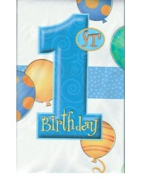 image: 1st birthday party tablecover BLUE