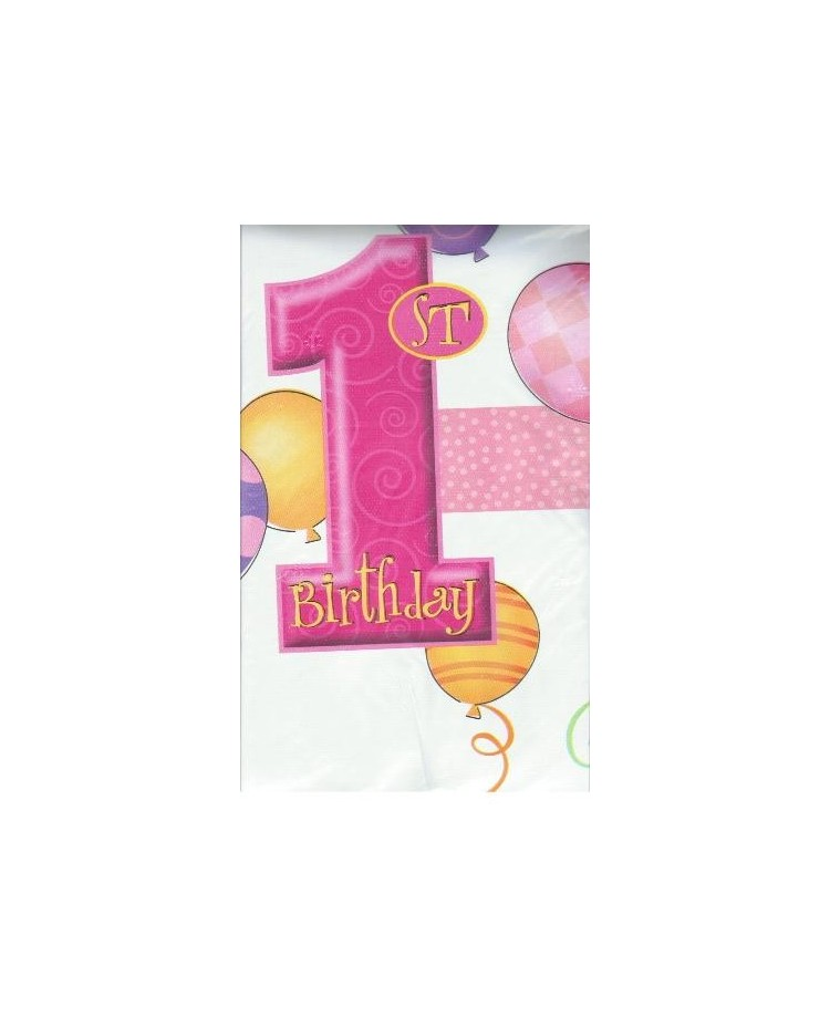 1st Birthday Party Tablecover PINK
