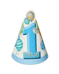 image: 1st birthday party hats (8) BLUE