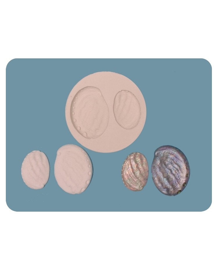 image: Paua Shell silicone mould (2 sizes)