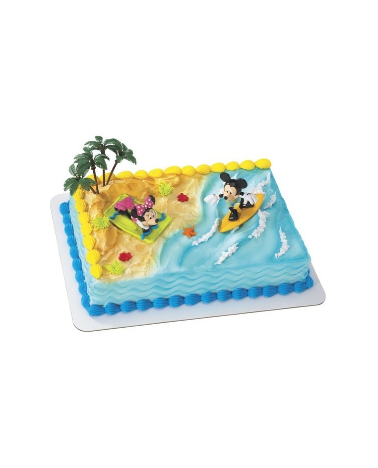 Mickey Minnie Mouse Surfing Cake Topper Set