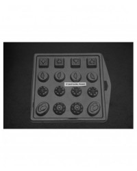 image: Card suits & flowers truffles chocolate mould