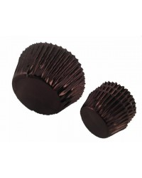 image: Foil baking cups brown mini cupcake papers