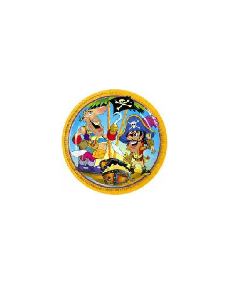 image: Pirate party plates pack of 8