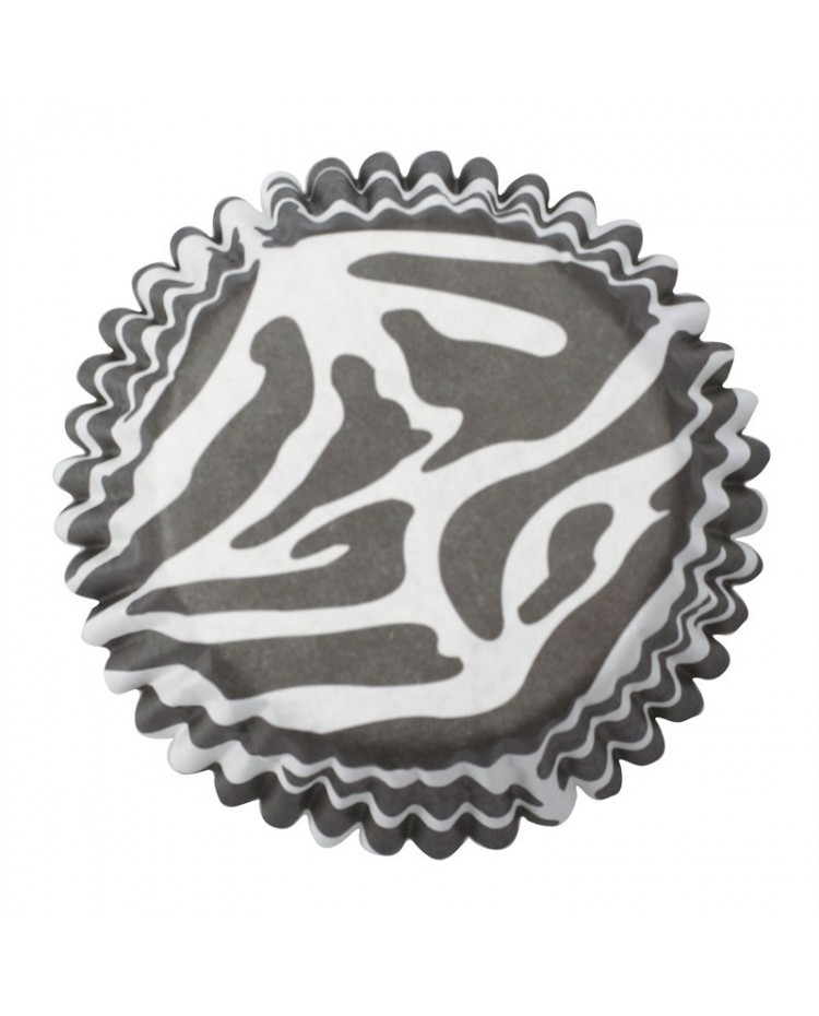 image: Zebra stripe (Black & white) baking cups cupcake papers