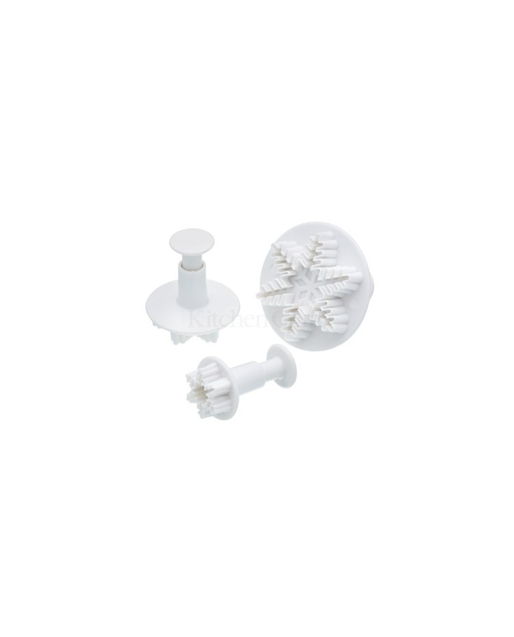 image: Set 3 Snowflake plunger ejector cutters