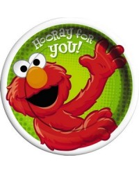 image: Hooray for Elmo party dinner plates (8) Sesame Street