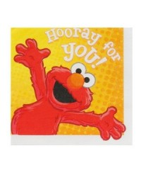 image: Hooray for Elmo party lunch napkins (16) Sesame Street