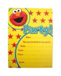 image: Elmo party invitations (6) Sesame Street
