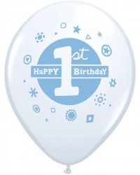 image: First Birthday Balloons BLUE (6)