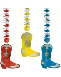 image: Western Cowboy boot dangling foil cut outs
