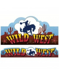 image: Western Cowboy & Horse Wild West cut out & banner