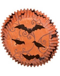 image: Haunted Manor mini baking cups cupcake papers