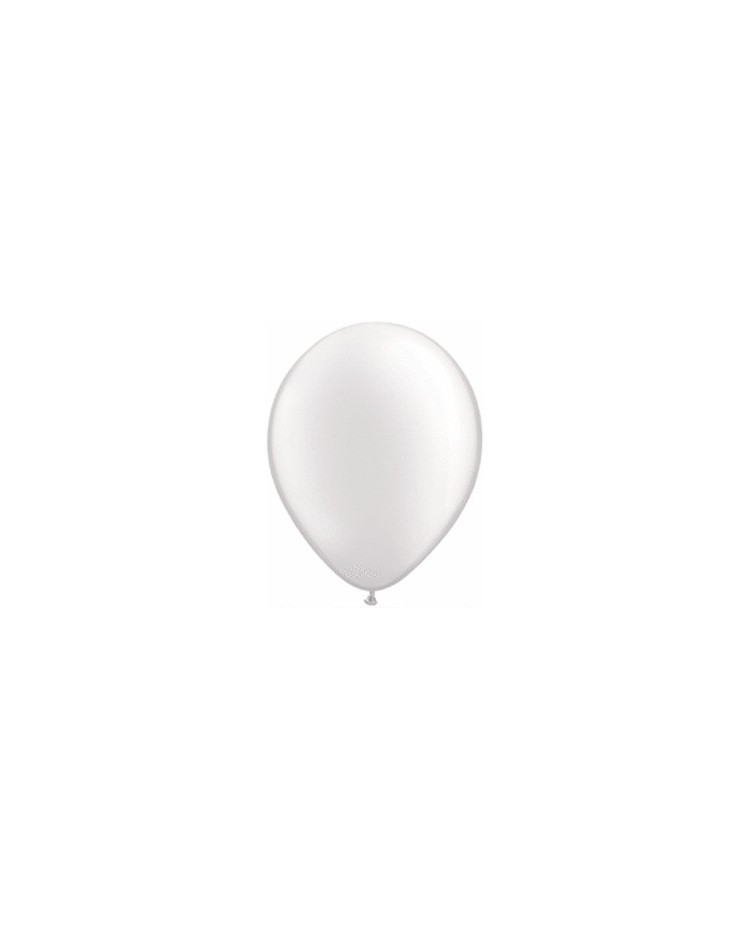 image: White pearlised latex balloons (8)