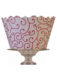 image: Cupcake wrappers Olivia red/white (12)
