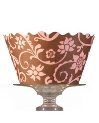 image: Cupcake wrappers Hannah pink/brown (12)