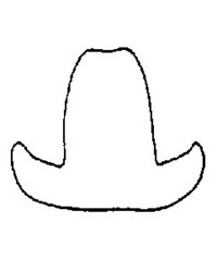 image: Cowboy hat mini cookie cutter #1
