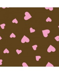 image: Chocolate transfer sheet Pink hearts
