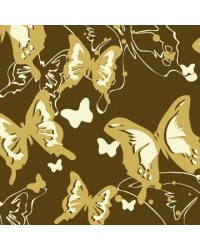 image: Chocolate transfer sheet Butterfly cream/gold
