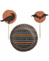 image: Haunted Manor Cupcake papers & picks Combo Pack