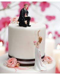 image: Groom Lending A Hand Mix & Match cake topper
