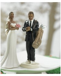 image: Groom Golf Fanatic ethnic Mix & Match cake topper