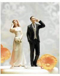image: Bride Cell Phone fanatic Mix & Match cake topper