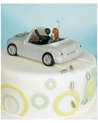 image: Bride & Groom cake topper Honeymoon Bound