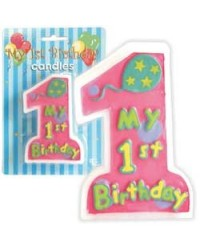 image: Numeral candle My 1st birthday LILAC