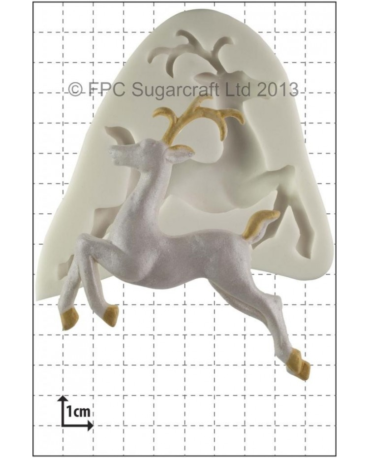 image: Leaping Deer silicone mould