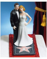 image: Bride & Groom cake topper Hollywood couple