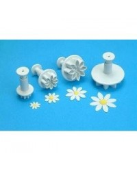 image: Set 4 Daisy Marguerite plunger ejector cutters