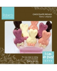 image: Easter bunny lollipop chocolate mould (instruction card)