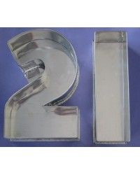image: 2 & 1 numeral cake pans (90mm deep)