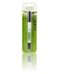 image: Edible marker pen Leaf green Double ended thick & thin